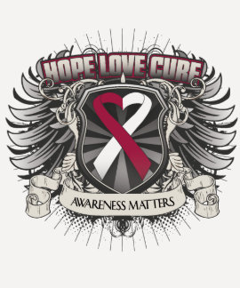 Head and Neck Cancer Hope Love Cure Tshirts