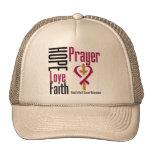 Head and Neck Cancer Hope Love Faith Prayer Cross Hat