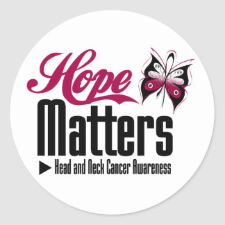 Head and Neck Cancer HOPE MATTERS Classic Round Sticker