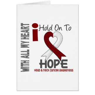 Head and Neck Cancer I Hold On To Hope Card