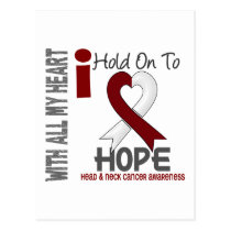 Head and Neck Cancer I Hold On To Hope Postcard