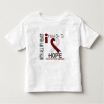 Head and Neck Cancer I Hold On To Hope Toddler T-shirt