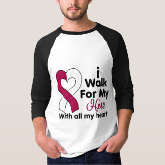 Head and Neck Cancer I Walk For My Hero T Shirt