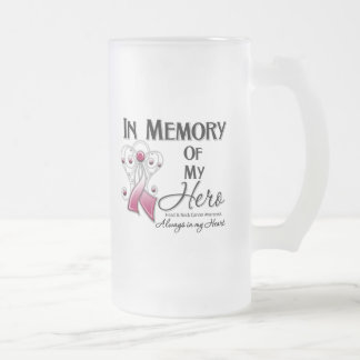 Head and Neck Cancer In Memory of My Hero 16 Oz Frosted Glass Beer Mug