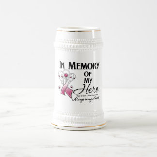 Head and Neck Cancer In Memory of My Hero 18 Oz Beer Stein