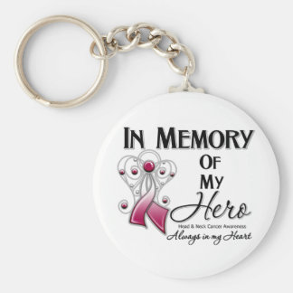 Head and Neck Cancer In Memory of My Hero Key Chain