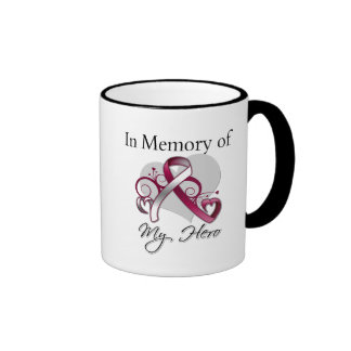 Head and Neck Cancer In Memory of My Hero Ringer Coffee Mug
