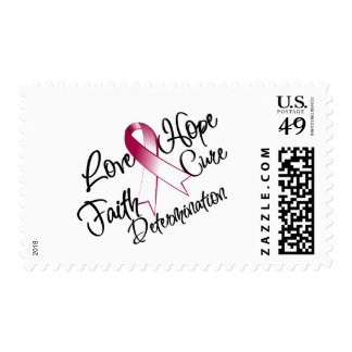 Head and Neck Cancer Love Hope Determination Postage Stamps