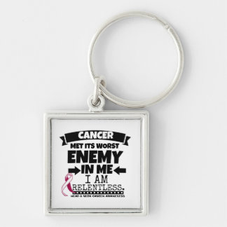 Head and Neck Cancer Met Its Worst Enemy in Me Keychain