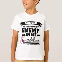 Head and Neck Cancer Met Its Worst Enemy in Me T-Shirt