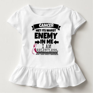 Head and Neck Cancer Met Its Worst Enemy in Me Toddler T-shirt