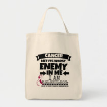 Head and Neck Cancer Met Its Worst Enemy in Me Tote Bag