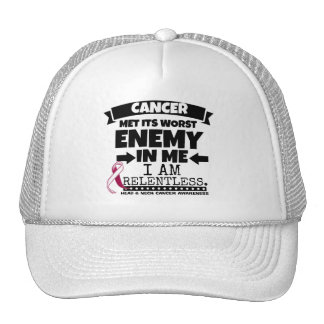 Head and Neck Cancer Met Its Worst Enemy in Me Trucker Hat