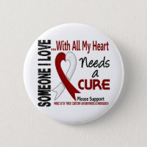Head and Neck Cancer Needs A Cure 3 Pinback Button