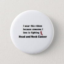 Head and Neck Cancer Pinback Button