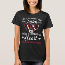 head and neck cancer sisters connected by heart T-Shirt