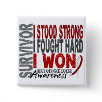 Head And Neck Cancer Survivor 4 Button