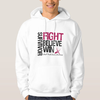 Head and Neck Cancer Survivor Fight Believe Win Mo Pullover