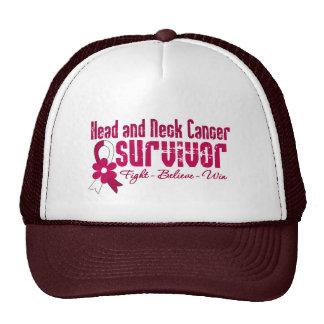 Head and Neck Cancer Survivor Flower Ribbon Trucker Hat