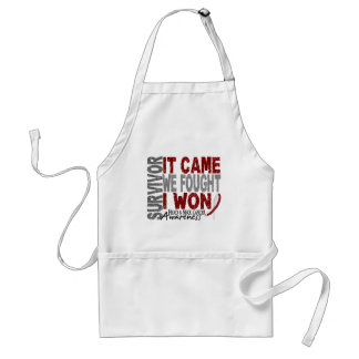 Head and Neck Cancer Survivor It Came We Fought Adult Apron