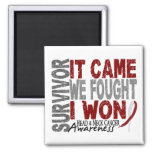 Head and Neck Cancer Survivor It Came We Fought Refrigerator Magnets