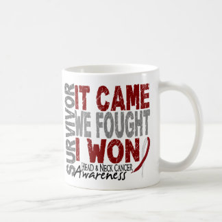 Head and Neck Cancer Survivor It Came We Fought Classic White Coffee Mug