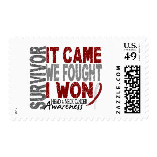 Head and Neck Cancer Survivor It Came We Fought Stamps