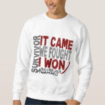 Head and Neck Cancer Survivor It Came We Fought Sweatshirt