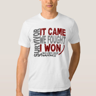 Head and Neck Cancer Survivor It Came We Fought T-Shirt