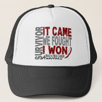 Head and Neck Cancer Survivor It Came We Fought Trucker Hat
