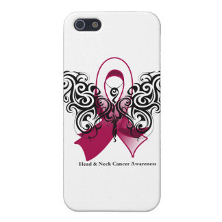 Head and Neck Cancer Tribal Butterfly Ribbon iPhone 5 Cases