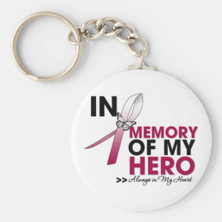 Head and Neck Cancer Tribute In Memory of My Hero Keychain