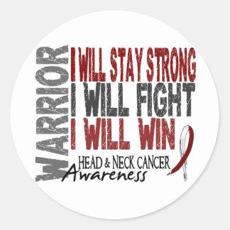 Head And Neck Cancer Warrior Classic Round Sticker
