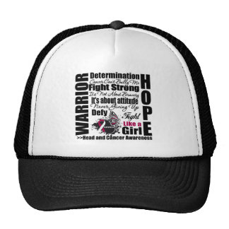 Head and Neck Cancer Warrior Fight Slogans Hat