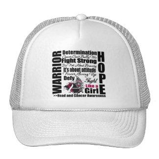 Head and Neck Cancer Warrior Fight Slogans Mesh Hat