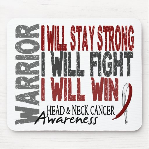 Head And Neck Cancer Warrior Mousepads