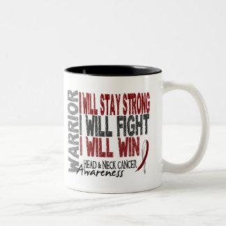 Head And Neck Cancer Warrior Two-Tone Coffee Mug