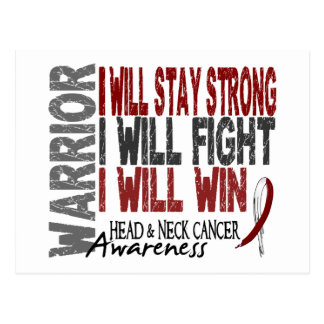 Head And Neck Cancer Warrior Postcard