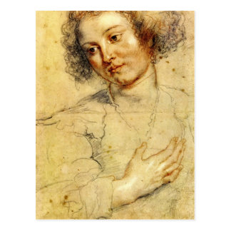 Head and Right Hand of Woman by Peter Paul Rubens Postcard
