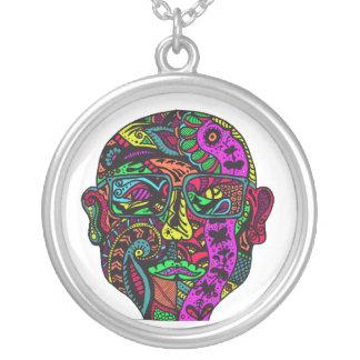 Head Around Your Neck Round Pendant Necklace