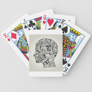 Head arrow bicycle playing cards