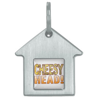 Head Blue Cheesy Pet ID Tag