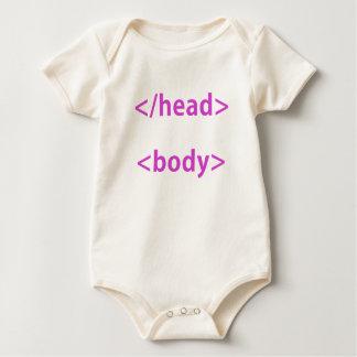 Head Body Computer Humor Baby Bodysuit