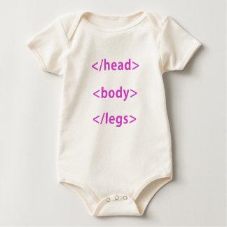 Head Body Legs Computer Humor Baby Bodysuit