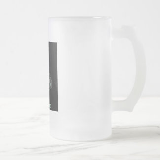 Head Case Frosted Glass Beer Mug