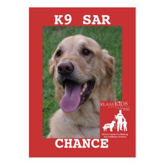 head-CHANCE, KlassKids Search Team K9 Large Business Card