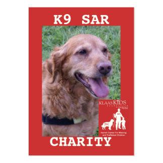 head-CHARITY, KlassKids Search Team K9 Large Business Card