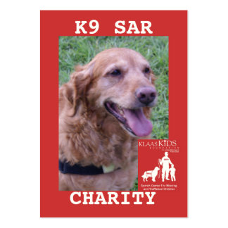 head-CHARITY, KlassKids Search Team K9 Large Business Cards (Pack Of 100)