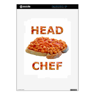 Head Chef Beans on Toast Decal For iPad 2