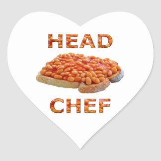 Head Chef Beans on Toast Heart Sticker